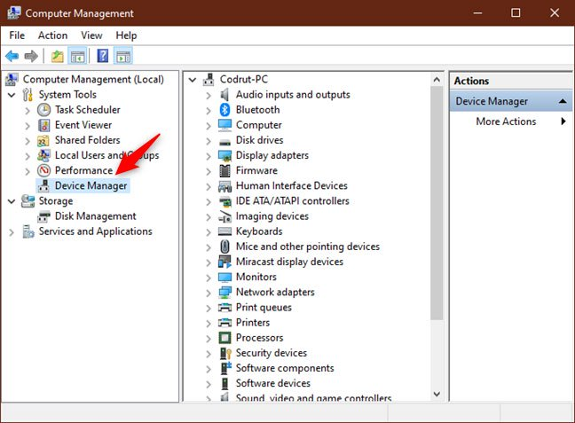 Mở Device Manager từ This PC