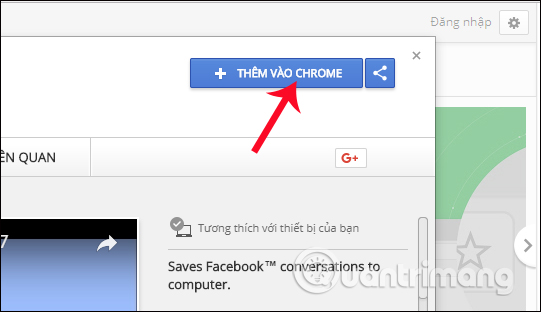 Tiện ích Messages Saver for Facebook